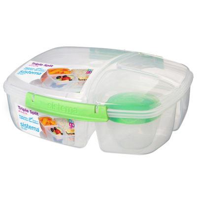 לאנצ' קופסת אוכל מחולקת 2 ליטר Sistema