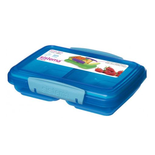 """לאנצ' קולור – קופסא לאוכל מלבנית מחולקת 350 מ""""ל Sistema"""