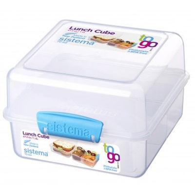קופסת אחסון מרובעת מחולקת 1.4 ליטר Sistema